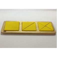Geometric shapes and fractions - yellow square