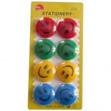 Happy faces magnets 4 cm diameter