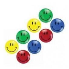 Happy faces magnets 3 cm diameter