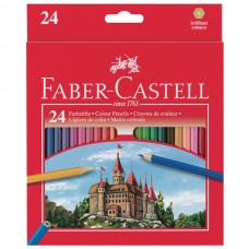 Wood box colors 24 color faber castell