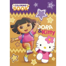 Dora and Kitty Coloring Book