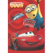 Cars and Minions Coloring Book