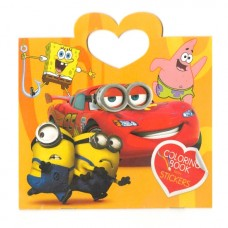 Sponge Bob and Cars Mini Coloring Book with Stickers