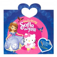 Hello Kitty and Sofia Coloring Book with Stickers