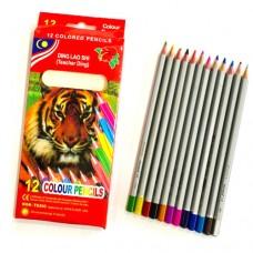 ألوان خشب 12 لون ding lao shi (teacher ding) 12 colour pencils