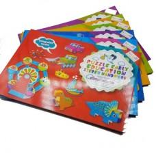 المجسمات الكرتونية puzzle early education stereo handwork